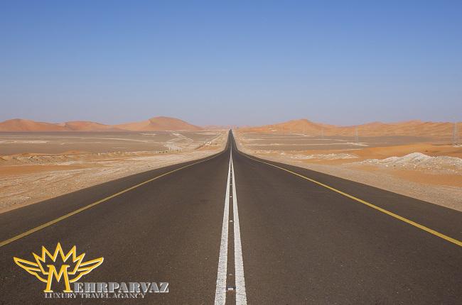 مستقیم ترین جاده