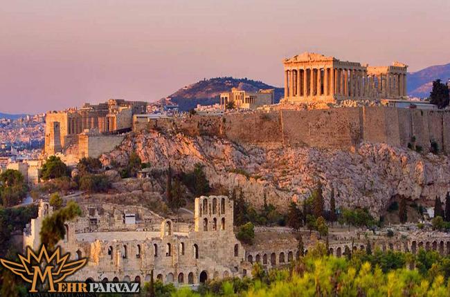 نما پرسپولیس از دور شهر یونان